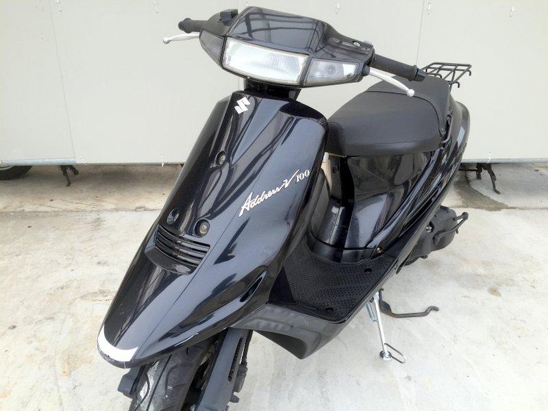 スズキ アドレスV100 2スト フルパワー ブラック