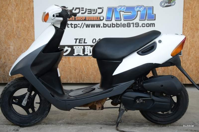 スズキ レッツ2 激安タイプ 原付バブル ホワイト 0225