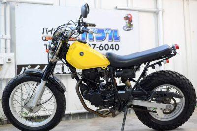 TW200 Fドラムブレーキ黄色