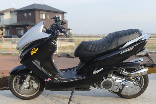 SG28J ヤマハマジェスティ150 カスタム ブラック!