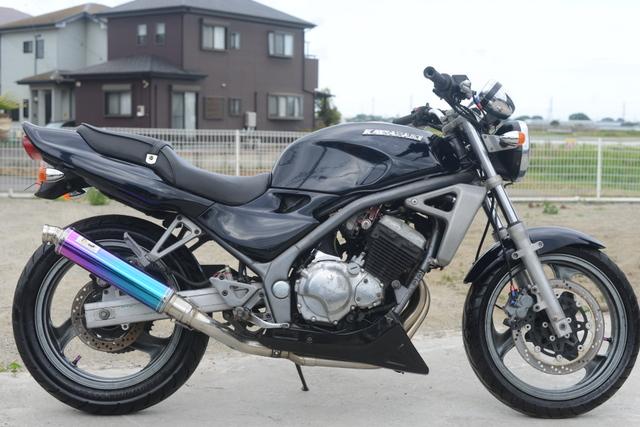 ZR250A カワサキバリオス1型 ブラック 社外スリップオンマフラー