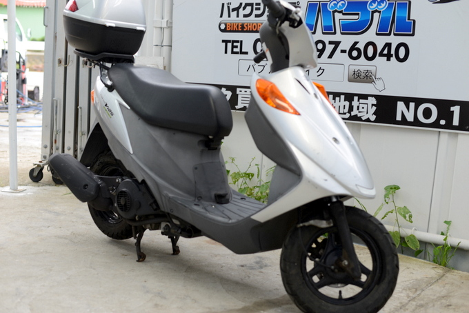 アドレスV125G シルバーRタイヤ新BOX付