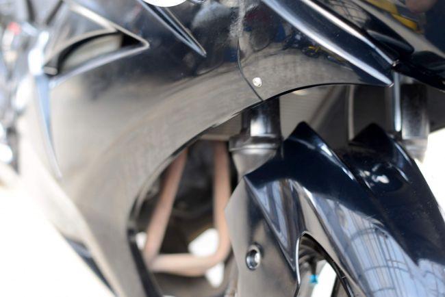 NINJA250R ブラック Fタイヤ新品交換渡し