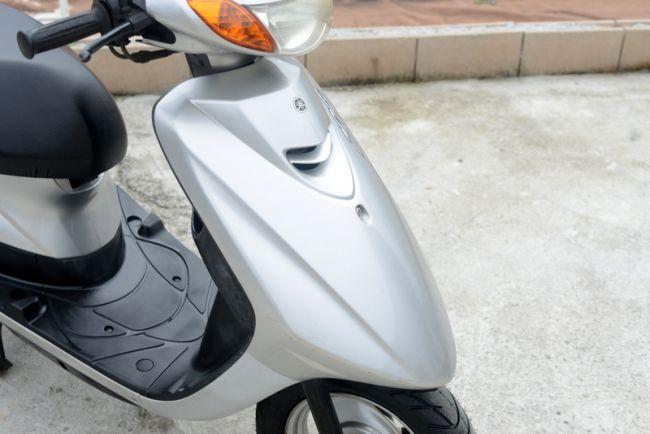 ヤマハ SA39J シルバー タイヤ前後新品に交換済み!