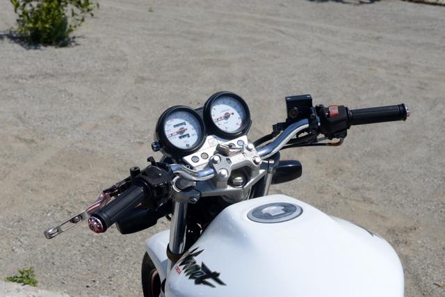ホンダ MC31 ホーネット250 ホワイト 社外マフラー
