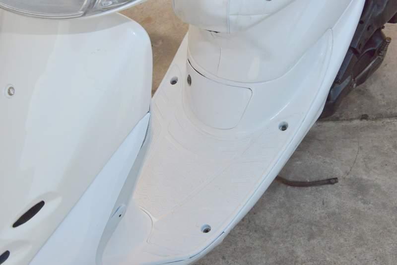 ライブディオZX 全身ホワイト AF35 ZX オーダーメイド