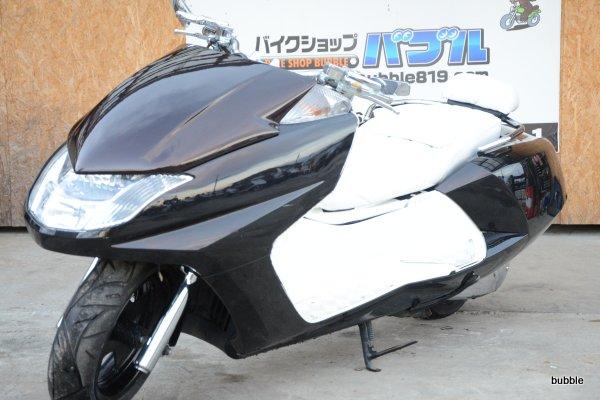 マグザム SG21型 ブラック 社外マフラー 白エナメルシート