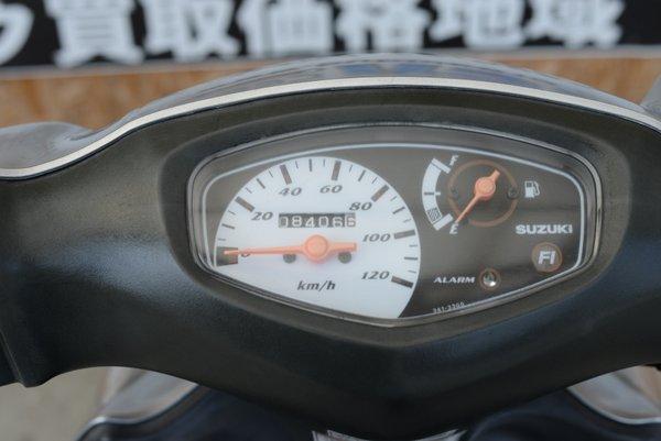 スズキ アドレスV125 排ガス規制前K6 フルパワー シルバー
